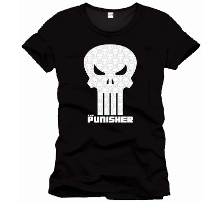 Tee-Shirt Noir High Density Skull Punisher