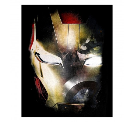 Tee-Shirt Noir Iron Mask + Captain Iron Man