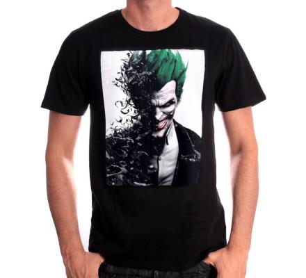 Tee-Shirt Noir Joker Arkham Batman