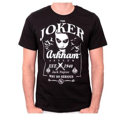 Tee Shirt Noir Joker Daniel's Arkham Batman