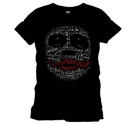 Tee-Shirt Noir Joker in Words Batman