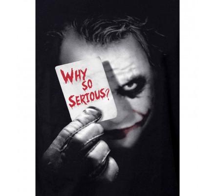 Tee Shirt Noir Joker Why So Serious Batman