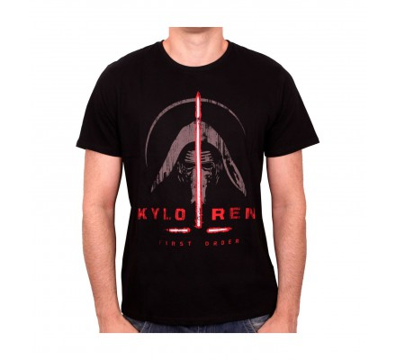 Tee-Shirt Noir Kylo Ren Sabre Laser Star Wars 7