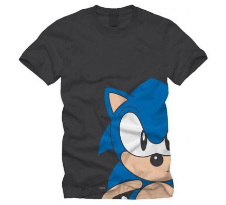 Tee-Shirt Noir Le Hérisson Sonic