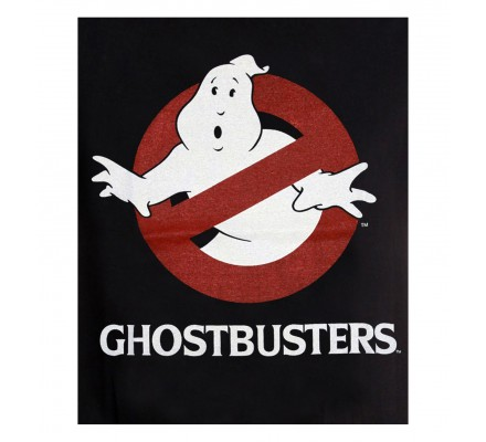 Tee-Shirt Noir Logo Ghostbusters