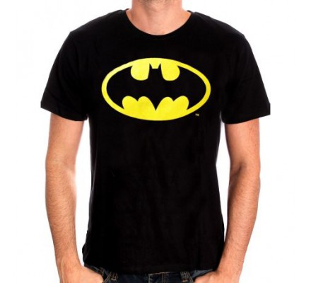 Tee-Shirt Noir Logo Phosporescent Batman