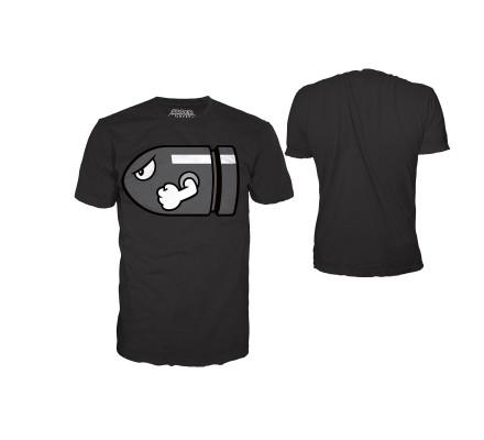 Tee-Shirt Noir Mario Bombe Nintendo
