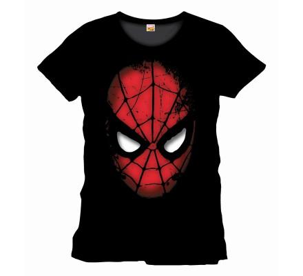 Tee-Shirt Noir Modèle Face Spiderman