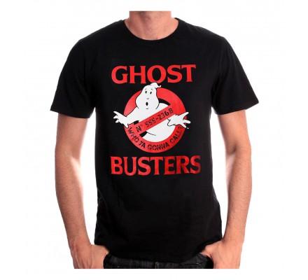 Tee-Shirt Noir Phone Number Ghostbusters