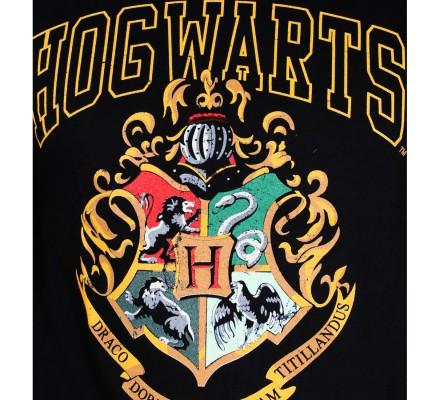 Tee-Shirt Noir Poudlard Harry Potter