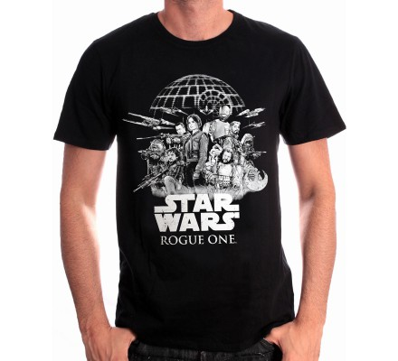 Tee-Shirt Noir Rebel Alliance Rogue One Star Wars