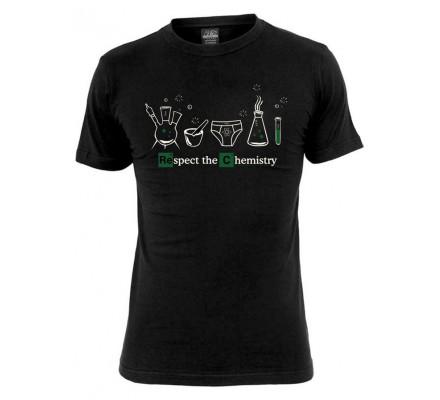 Tee-Shirt Noir Respect the Chemistry Breaking Bad