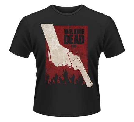 Tee-Shirt Noir Revolver The Walking Dead