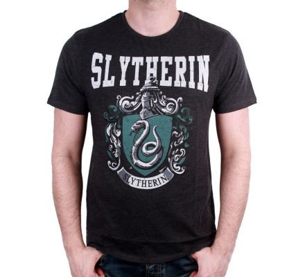 Tee-Shirt Noir Serpentard Harry Potter