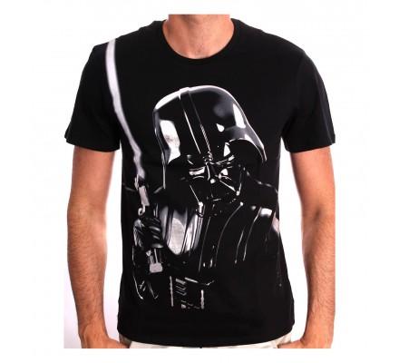 Tee-Shirt Noir Silver Dark Vador Star Wars