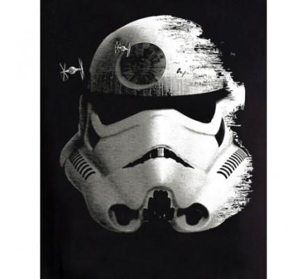 Tee-Shirt Noir Stormtrooper And Death Shelmet Star Wars