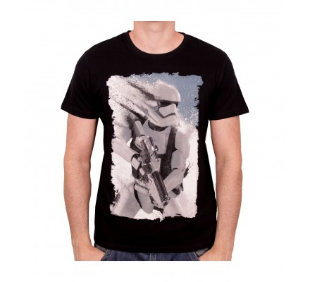 Tee-Shirt Noir Stormtrooper Splatter Star Wars 7