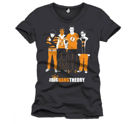 Tee-Shirt Noir Team Orange The Big Bang Theory