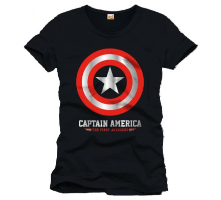 Tee-Shirt Noir The First Avengers Captain America