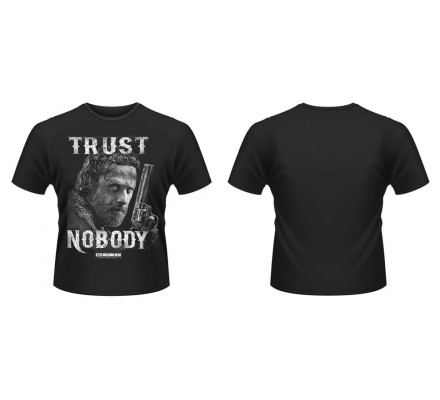 Tee-Shirt Noir Trust Nobody The Walking Dead