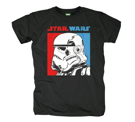 Tee-Shirt Noir Two Tone Trooper Star Wars