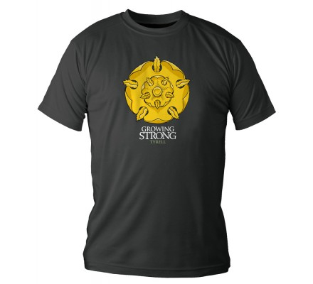 Tee-Shirt Noir Tyrell Growing Game of Thrones