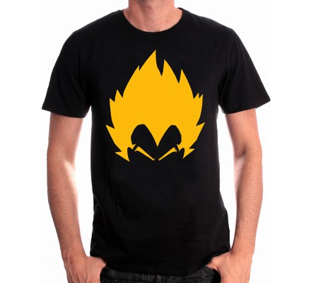 Tee-Shirt Noir Vegata Dragon Ball Z