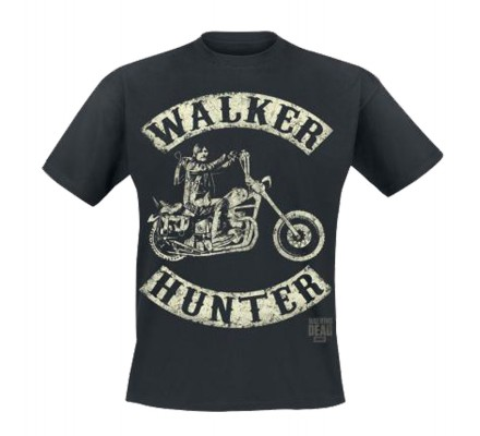 Tee-Shirt Noir Walker Hunter The Walking Dead