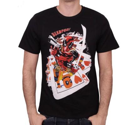 Tee-Shirt Roi de Coeur Deadpool