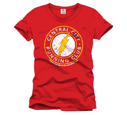 Tee Shirt Rouge Running Club Flash