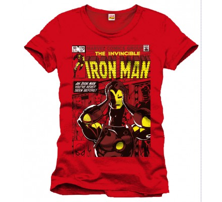 Tee-Shirt Rouge Never Seen Before Iron Man