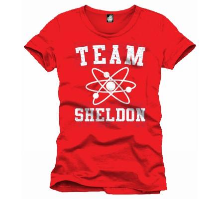 Tee-Shirt Rouge Team Sheldon The Big Bang Theory