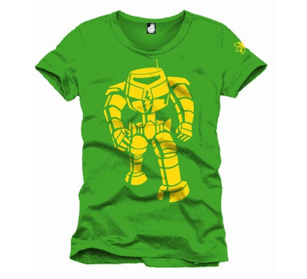 Tee-Shirt Rouge Vert Yellow Machine The Big Bang Theory