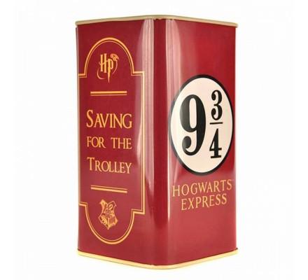 Tirelire Poudlard Express Voie 9 3/4 métallique Harry Potter