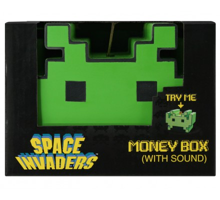 Tirelire sonore verte Space Invaders