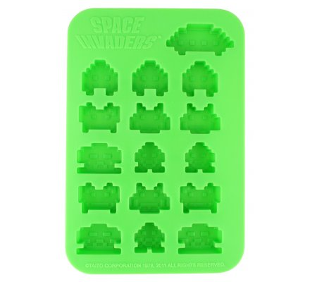 Bac à glaçons vert SIlicone Space Invaders