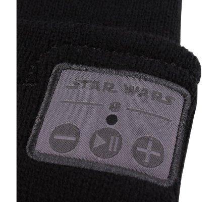 Bonnet Noir Bluetooth Pompom Star Wars
