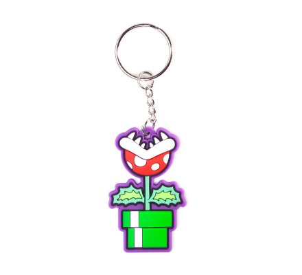 Porte-clés caoutchouc Mario Plante Piranha 6 cm Nintendo