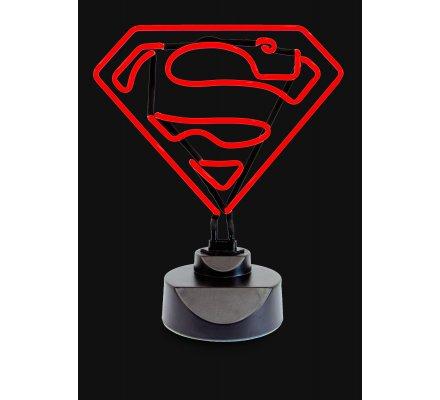 Lampe Neon Rouge 30cm Classic Logo Superman