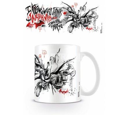 Mug Blanc I Know How to Beat You Batman