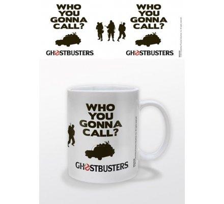 Mug Blanc Who You Gonna Call Ghostbusters