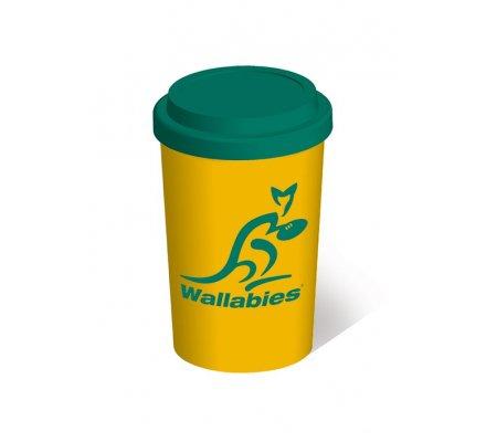 Mug de Voyage Jaune et Vert Wallabies Rugby