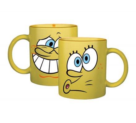 Mug Jaune Crazy Faces Bob l'éponge
