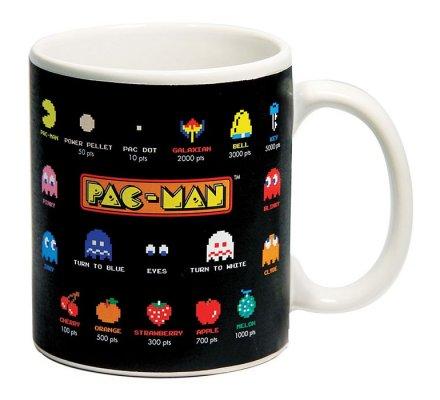 Mug Noir Gloassaire Thermique Pacman