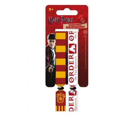 Pack de 2 bracelets Gryffondor Harry Potter