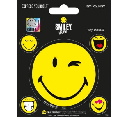 Pack de 5 Stickers SmileyWorld Smiley