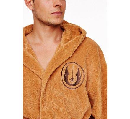 Peignoir Adulte Marron Avec Ceinture Jedi Logo Star Wars