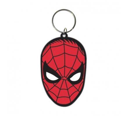 Porte-clés Caoutchouc Face 6 cm Spiderman