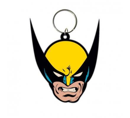 Porte-clés Caoutchouc Face 6 cm Wolverine