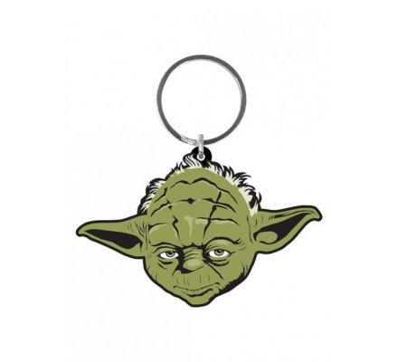 Porte-clés caoutchouc Yoda 6 cm Star Wars